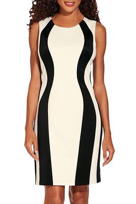 Vertical colorblock dress