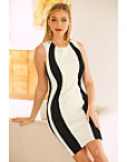 Vertical Colorblock Dress Photo