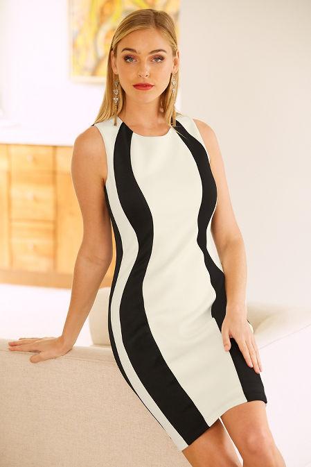 Vertical colorblock dress image
