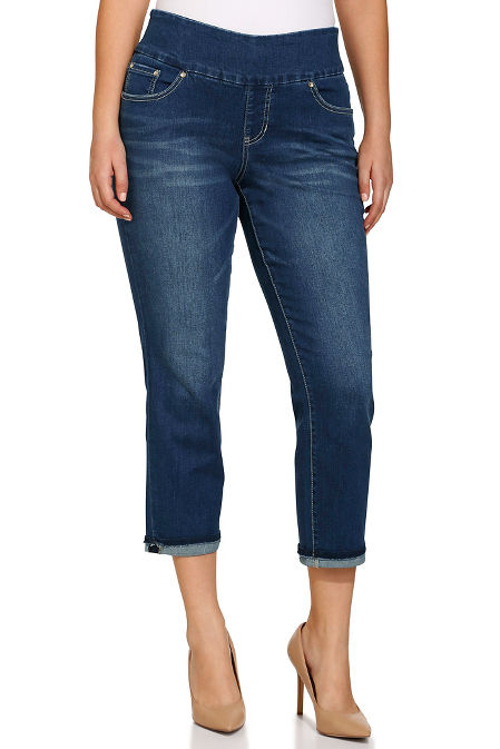 Amelia slim ankle pull on jean image