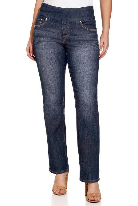 Peri straight pull on jean image
