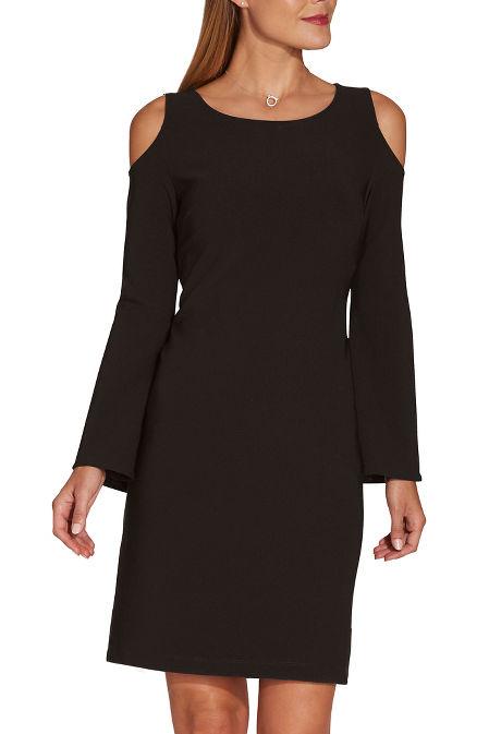 Beyond travel™ cold shoulder dress image
