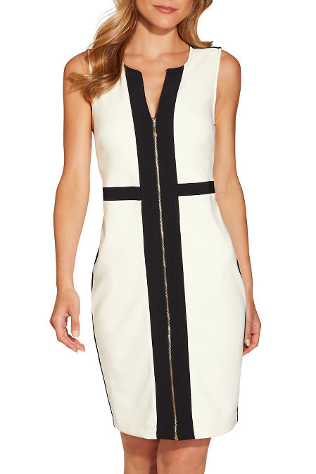 Beyond travel™ zipper colorblock dress image