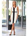 Beyond Travel™ Zipper Colorblock Dress Photo