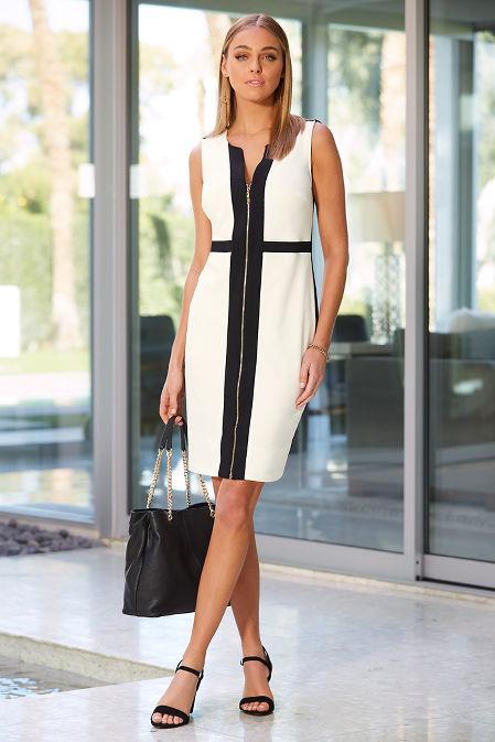 Beyond travel™ zipper colorblock dress image