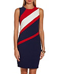 Beyond Travel™ Tri Angled Colorblock Dress Photo