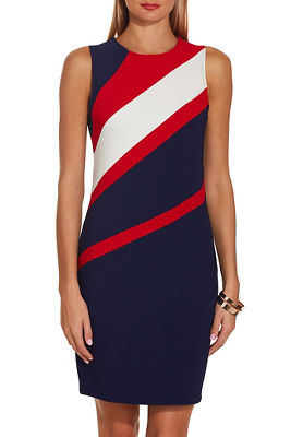 Beyond travel™ tri angled colorblock dress