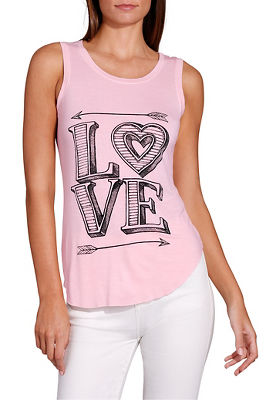 Love scoop neck graphic tee