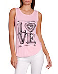 Love Scoop Neck Graphic Tee Photo