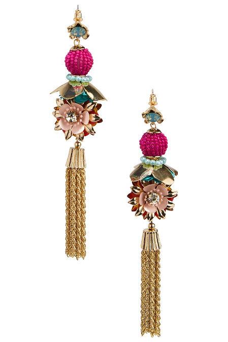 3D flower tassel earrings image