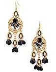 Pearl Stone Beaded Earrings Photo