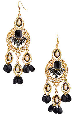 Pearl stone beaded earrings