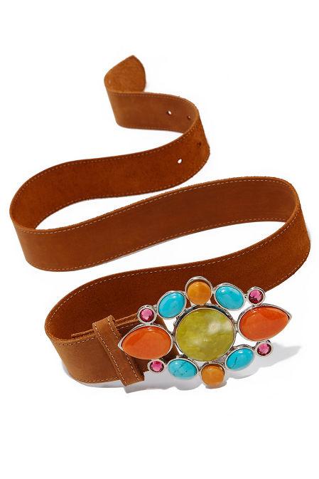 Bright statement buckle belt image