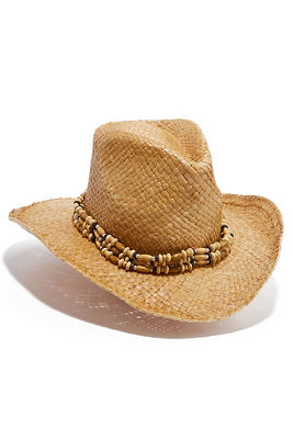 wood bead cowboy hat