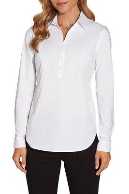 Quarter button shirt