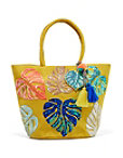Palm Leaves Jute Tote Photo