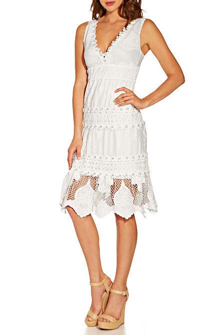 Flower embellished dress image