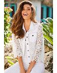 Lace Embellished Denim Jacket Photo