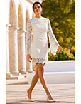 Long Sleeve Lace Sheath Dress Photo