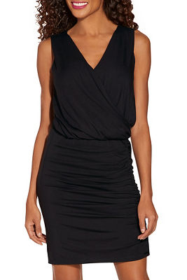 Display product reviews for Ruched overlay T-shirt dress