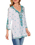 Turquoise Baubles Tunic Top Photo