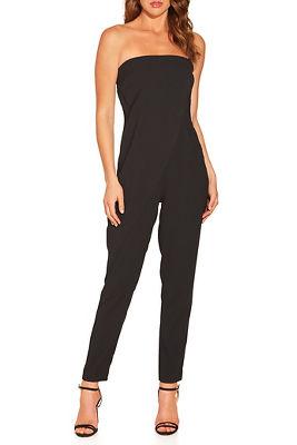 Asymmetric overlay jumpsuit