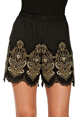 bead embroidered short