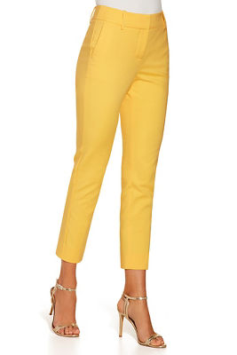 Cotton sateen crop pant