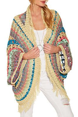 Crochet stripe cardigan