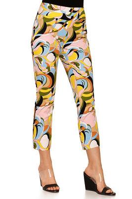 Everyday side zip twill pastel capri pant