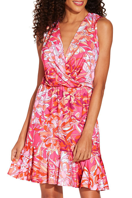 Floral flounce dress image