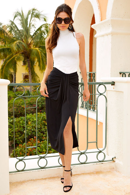 Front ruched skirt image
