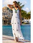 Halter Turquoise Embellished Maxi Dress Photo
