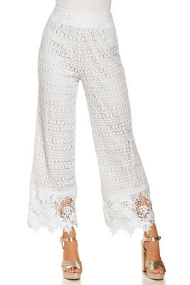mixed crochet pant