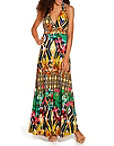 Mixed Print Maxi Dress Photo