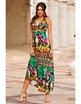 Mixed Print Maxi Dress Photo