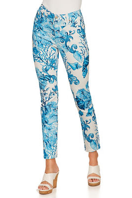 Sea print ankle jean