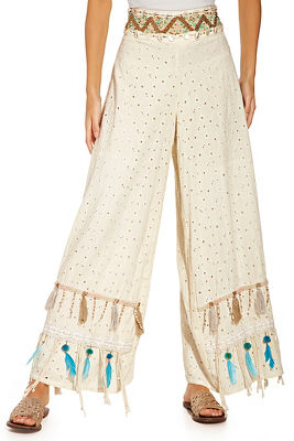 Shell and feather pant