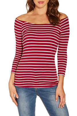So Sexy™ stripe ballet neck top
