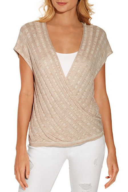 Surplice front sweater image