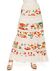 Tiered Floral Maxi Skirt Photo