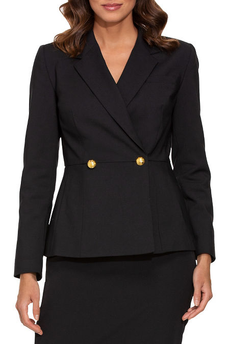 Two button peplum blazer image