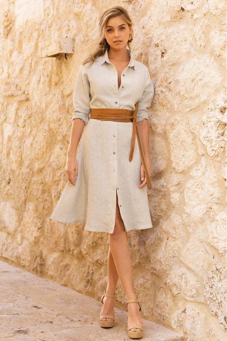 Linen shirtdress image