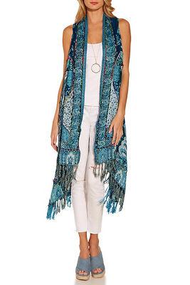 Stitch detail scarf vest