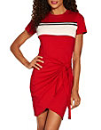 Track Stripe Tie Front Dress Photo