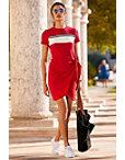 Track Stripe Tie Front Dress Photo