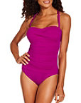 Halter Ruched One Piece Swimsuit Photo