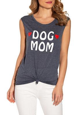 Dog mom sleeveless top