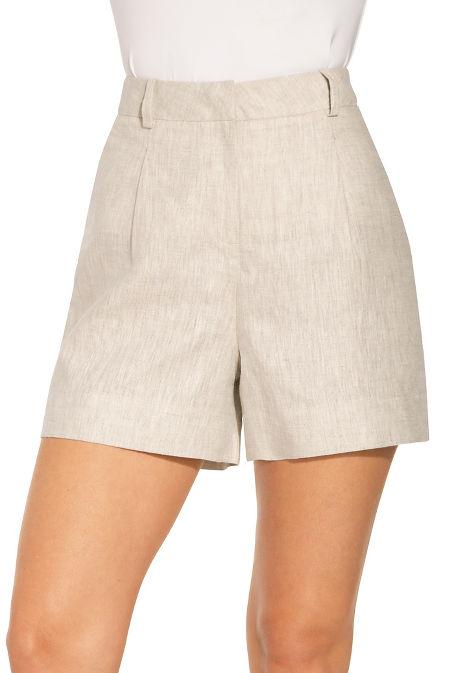 Solid linen short image