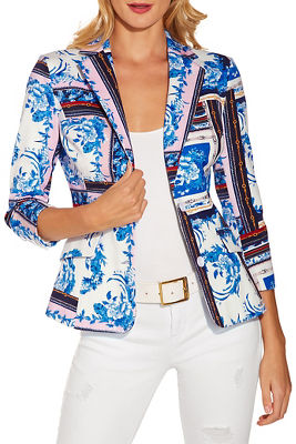 Floral chain twill jacket